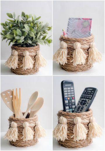 cosas hechas con cuerda para la casa