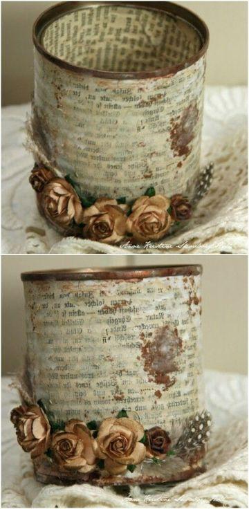 cosas hechas con latas para bodas