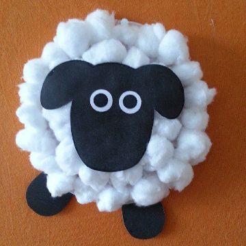 cosas hechas de algodon para niños