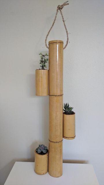 cosas hechas de bambu para hacer
