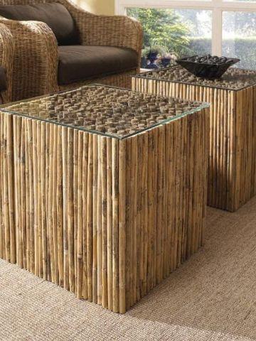 cosas hechas de bambu para la casa