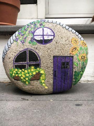 cosas hechas de piedra para el jardin