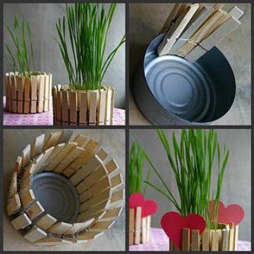 manualidades con latas de atun para el jardin
