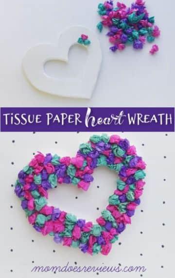 manualidades de corazones de papel crepe