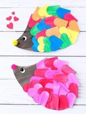 manualidades de corazones de papel de colores