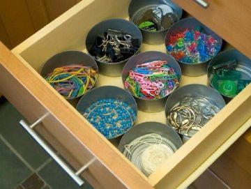 organizar con manualidades con latas de atun