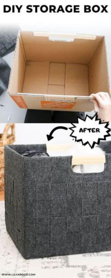 reciclado con cajas de carton para la casa