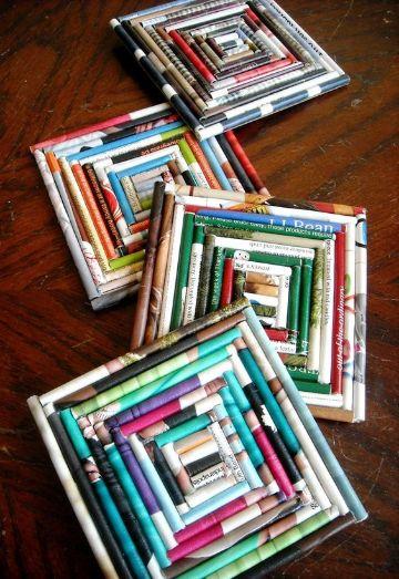 4 estilos de manualidades con revistas viejas