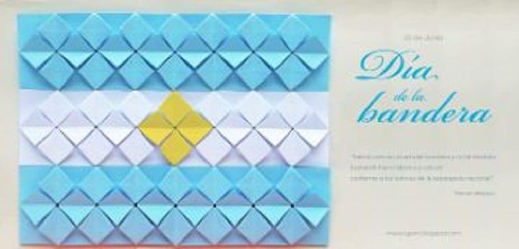 banderas hechas con papel para argentina
