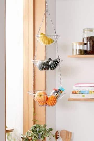 canastas colgantes para cocina caseras