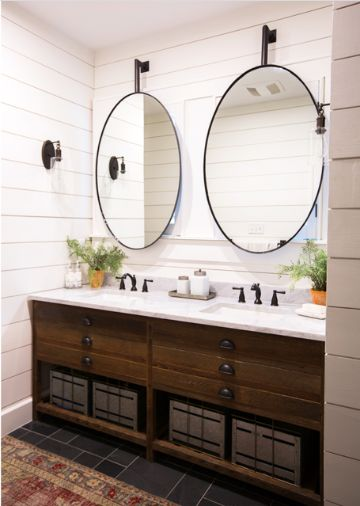 espejos ovalados para baños de matrimonio