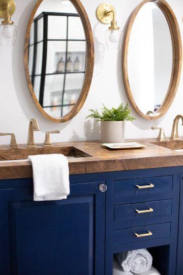 espejos ovalados para baños de parejas