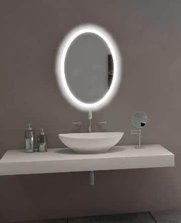 espejos ovalados para baños de soltera