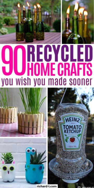 manualidades con cosas recicladas para el jardin
