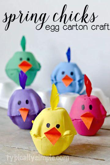 manualidades con maple de huevo para niños
