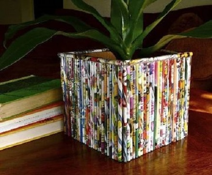 manualidades con revistas viejas paso a paso
