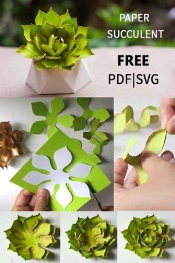 manualidades de flores de papel verdes