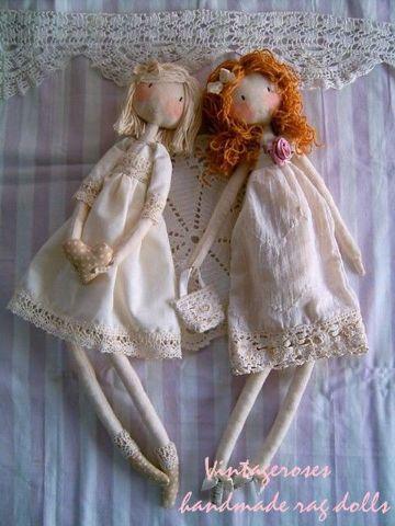 4 muñecas de trapo hechas a mano