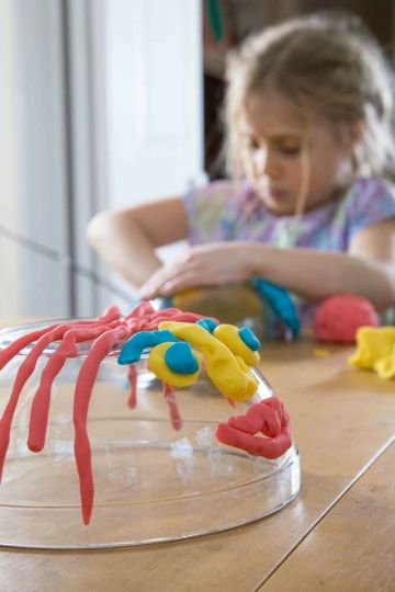 4 tipos de trabajos con plastilina para niños