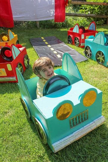 carros con cajas de carton divertidos