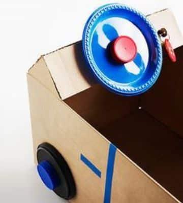carros con cajas de carton para jugar