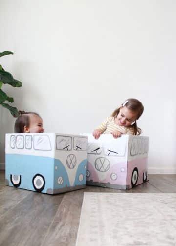 carros con cajas de carton para niñas
