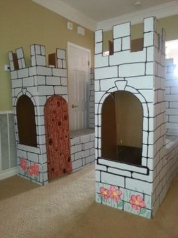 castillos de carton para niños grandes