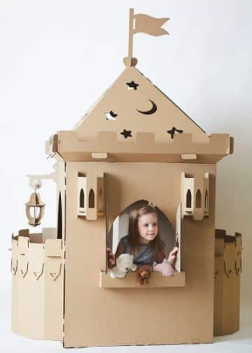 castillos de carton para niños para jugar