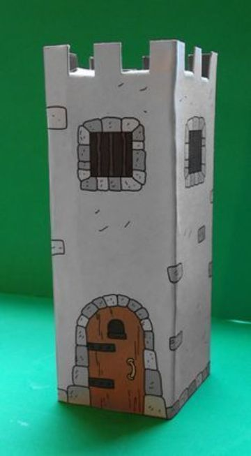 castillos de carton para niños paso a paso