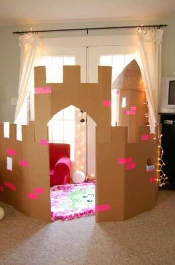 castillos de carton para niños y niñas