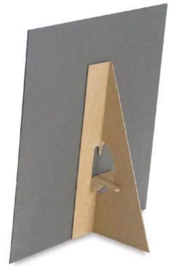 como hacer portaretratos de carton reciclado