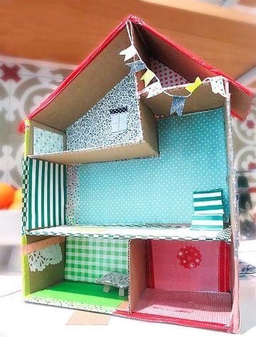 ideas para casas de muñecas de carton