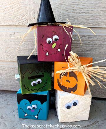 manualidades con bloques de madera para decorar