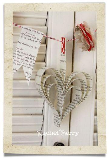 manualidades con papel de diario para decorar