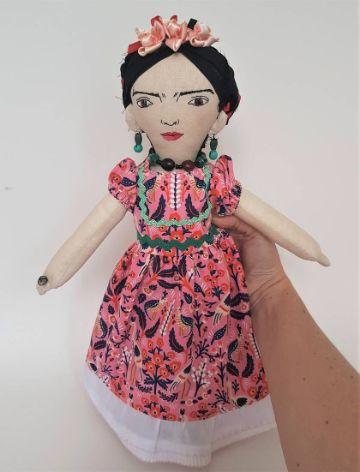 muñecas de trapo de frida kahlo de coleccion