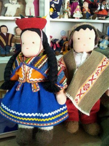 muñecas de trapo peruanas decorativas
