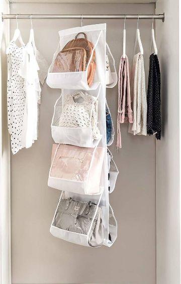 organizador de bolsos para armario de plastico