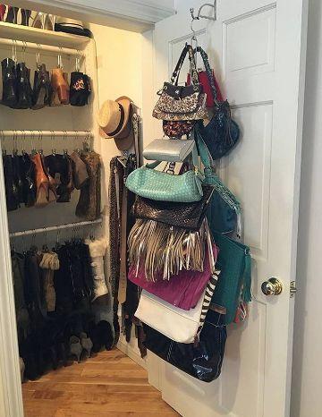 organizador de bolsos para armario hechos a mano