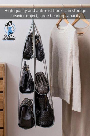 organizador de bolsos para armario sencillos