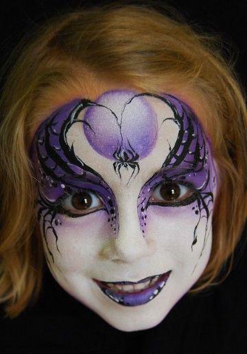 caras de halloween pintadas de brujitas
