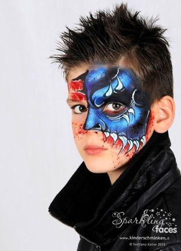 caras de halloween pintadas para niños