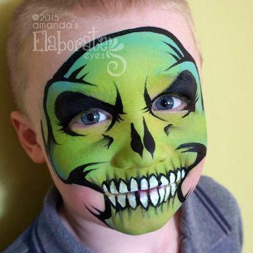 caras pintadas de calaveras para niños divertidas