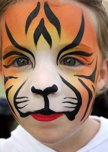 caritas pintadas de animales para carnaval