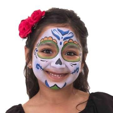 caritas pintadas de coco para niñas