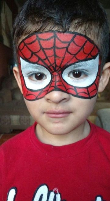 caritas pintadas de spiderman en halloween