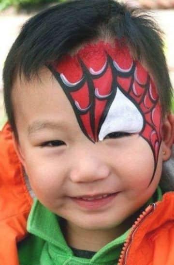 caritas pintadas de spiderman para fiestas