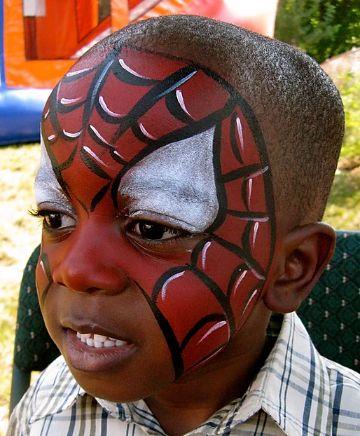caritas pintadas de spiderman para niños