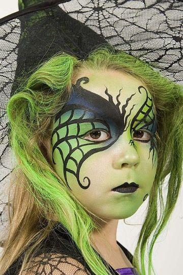 pintacaritas de bruja para niñas para fiestas