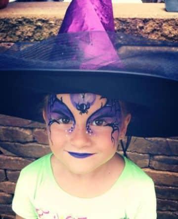 pintacaritas de bruja para niñas para halloween