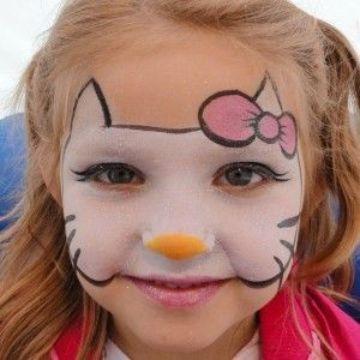 pintacaritas de hello kitty para niñas